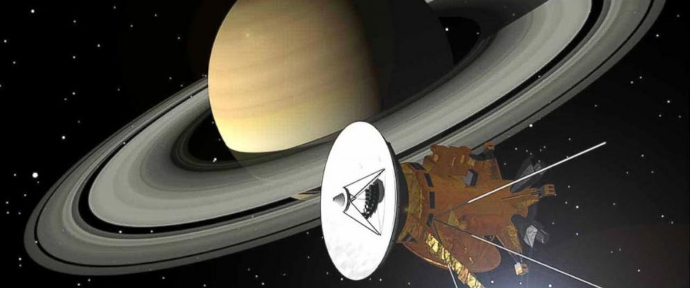 PHOTO: Artists concept of the Cassini Spacecraft.