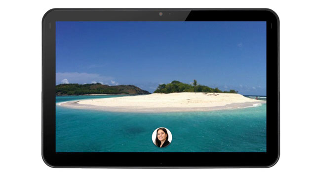 PHOTO: What Facebook Home might look like on a tablet.