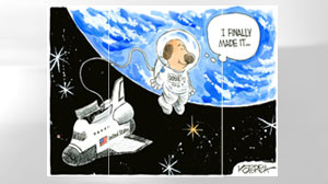 Cartoons in space