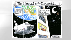 Cartoons in space