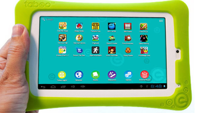 PHOTO: Toys R Us will carry its own $150 Tabeo tablet for kids starting in October.