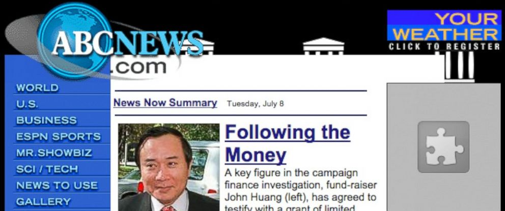 PHOTO: A screen grab of the of ABCnews.com from March 30, 1997.