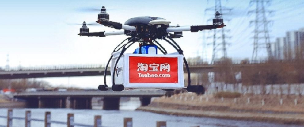 PHOTO: Alibaba Groups drone is pictured in this still from their e-commerce news site, alizila.com.