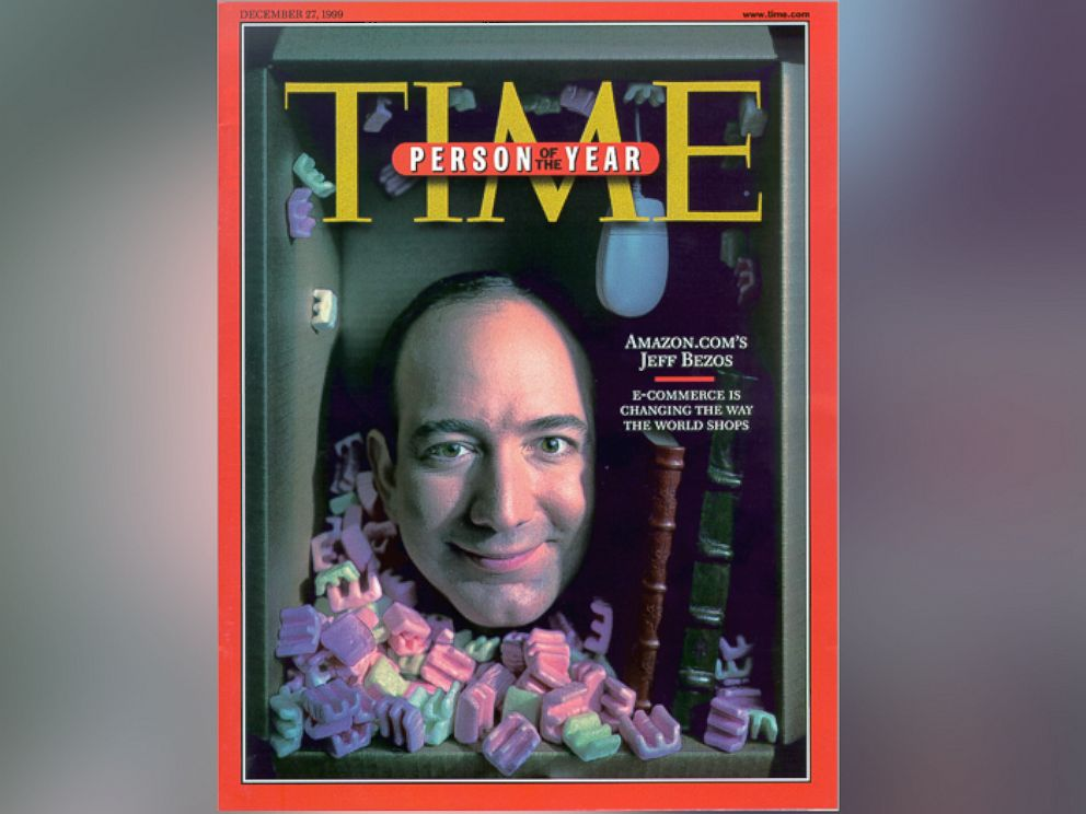 PHOTO: Jeff Bezos, founder and CEO of Amazon.com, appears on Time Magazines Dec. 27, 1999 Person of the Year cover.
