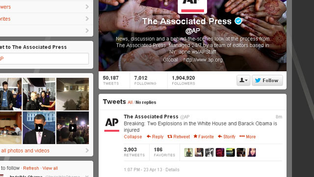 PHOTO: The AP says its Twitter account was hacked this afternoon.