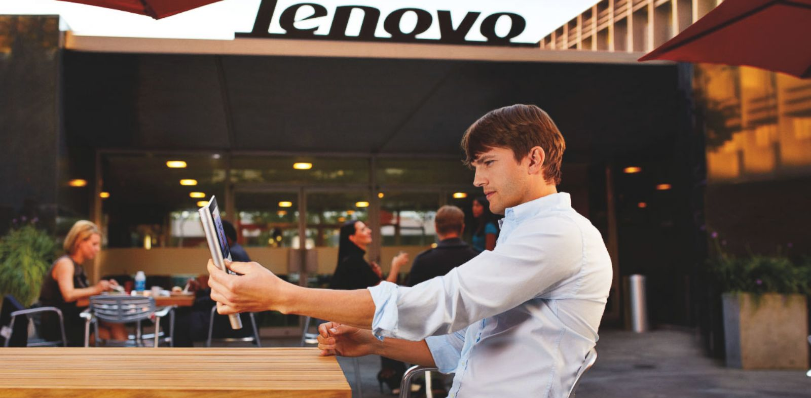 PHOTO: Ashton Kutcher is now a Lenovo product engineer.