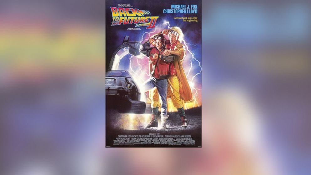 "The promotional poster for ""Back to the Future II"" is pictured."