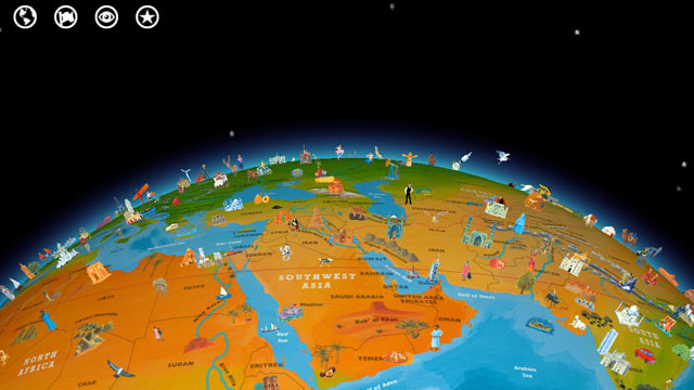 Popular iphone and ipad apps free before app stores anniversary photo barefoot world atlas is an interactive globe and map app for the ipad and gumiabroncs Gallery