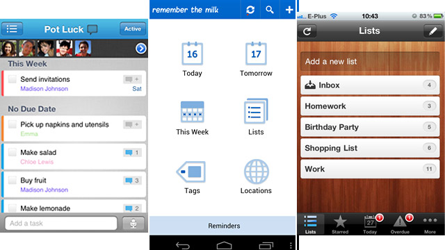 Best To-Do List Apps: Remember the Milk, Astrid, Wunderlist