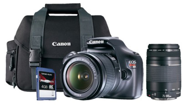 PHOTO: The Canon Rebel T3 is pictured.