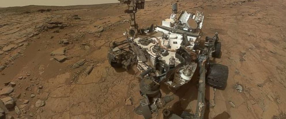 PHOTO: This self-portrait of NASAs Mars rover Curiosity combines dozens of exposures taken by the rovers Mars Hand Lens Imager on Feb. 3, 2013 plus three exposures taken May 10, 2013.
