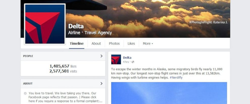 Delta Air Lines Facebook Page Suffers X-Rated Hack - ABC News