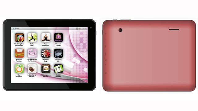 PHOTO: The Eurostar ePad Femme is a tablet made for women with preloaded yoga and recipe apps.