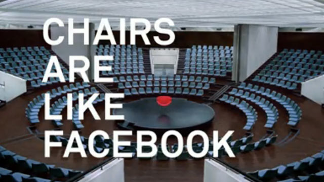 PHOTO: Facebooks first ad, which appeared, Oct. 4, 2012.