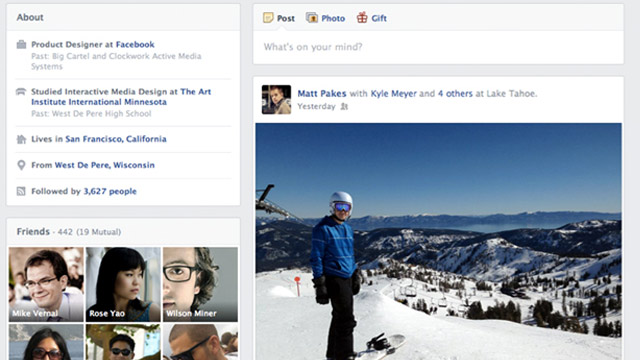 PHOTO: Facebooks redesigned Timeline