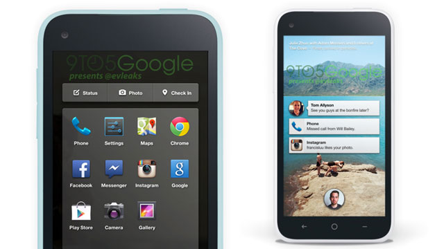 PHOTO: Photos of Facebooks purported Android software and phone leaked ahead of Facebooks event.
