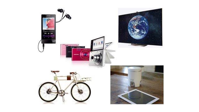 "PHOTO: Top 5 Gadgets of the Week: Samsung's 75"" HDTV, Farady Concept E-Bike, POP Charger, Sony Walkman F800"