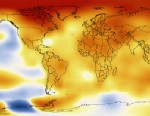 PHOTO: This map represents global temperature anomalies averaged from 2008 through 2012.