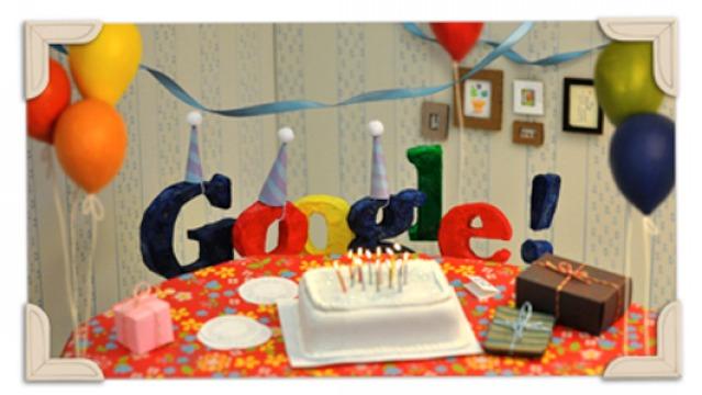 Google Doodle: Happy 13th Birthday Google