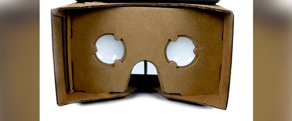 PHOTO: Pictured is a Google Cardboard viewer.