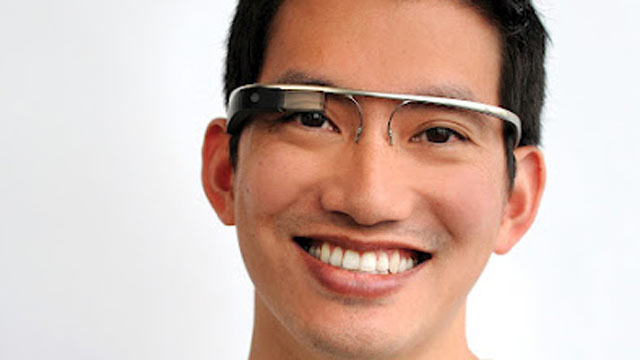 PHOTO: Google's augmented reality glasses overlay digital information on the real world with glases.