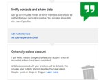 PHOTO: Googles Inactive Account Manager gives users the option to set a time out period with alerts, add trusted contacts who should be made aware that you are no longer using your account and instruct Google to delete your account on your behalf.