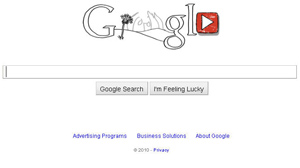 PHOTO The google homepage is shown featuring a doodle of John Lennon.