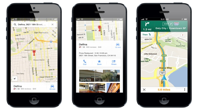 Google Maps App for iPhone Released With Turn-by-Turn ... on googlemaps street view, google maps app logo, satellite map street view, maps live street view, online maps street view, earth map street view, world map street view, google earth real time view, new york map street view,