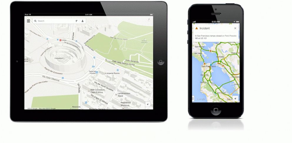 Google Maps for iPad, iPhone, Android Phones Updated With ... on google maps update, google maps screenshot, google maps path,