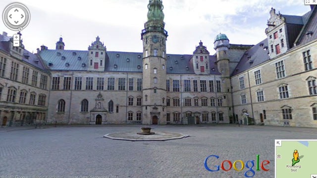 PHOTO: A Google Street View image of the Kronborg castle in Denmark.