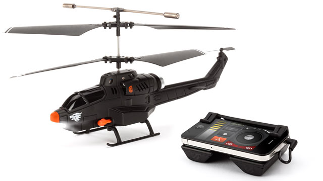 PHOTO: Griffin's HELO TC Assault remote control helicopter is controlled with an iPhone.