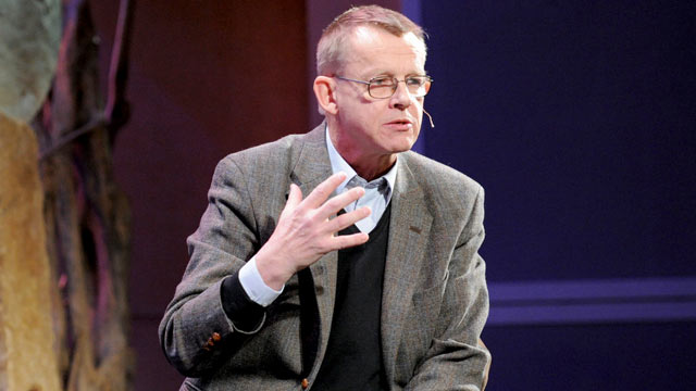 PHOTO: Hans Rosling speaks during Session 1: Overture in this Dec. 7, 2010 file photo at TEDWomen in Washington, DC.