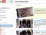 """PHOTO: When users search for """"Do the Harlem Shake"""" on YouTube the website results do the viral shake."""