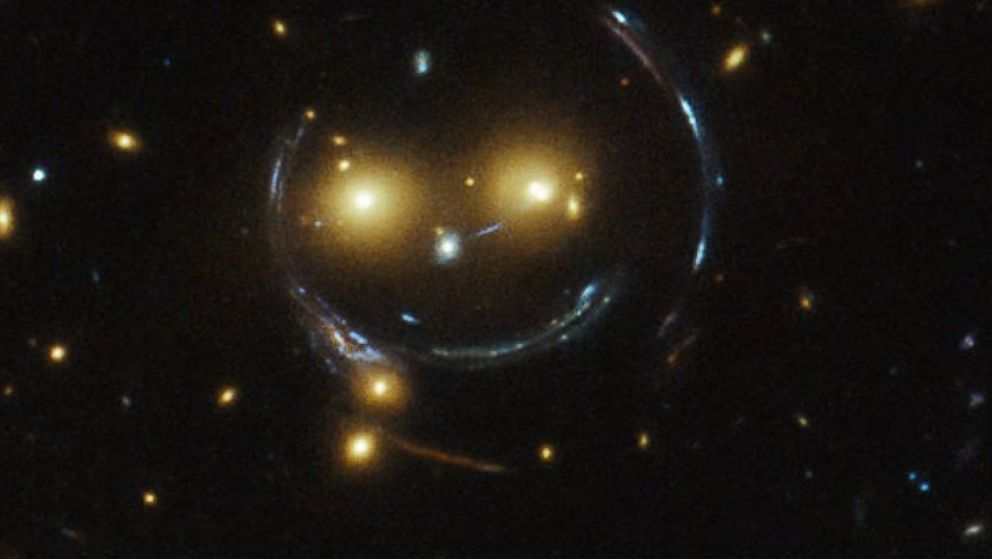 Smiley Face in Deep Space Captured by Hubble Telescope ...