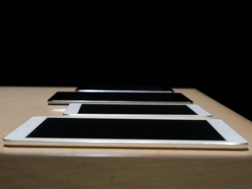 PHOTO: Apples line of 2013 iPads includes the new iPad Air and the iPad Mini with Retina Display.