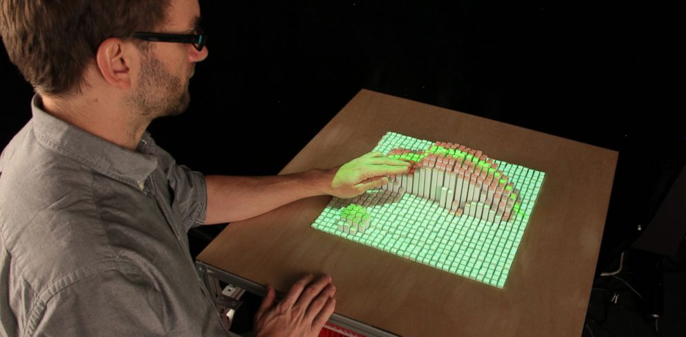 PHOTO: The inFORM machine is a touchable 3D display created by researchers at MIT.