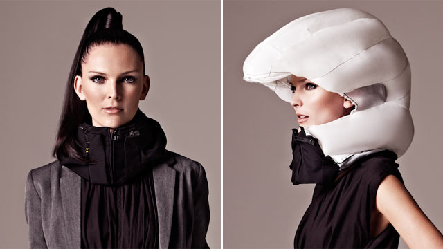 PHOTO: Hovding is an invisible bike helmet invented by two women in Sweden.