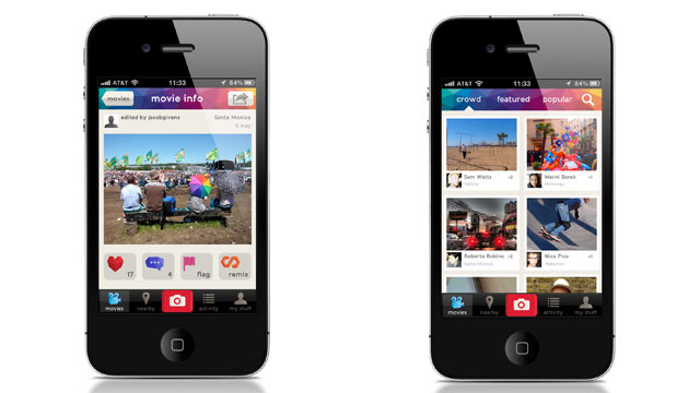 PHOTO: Vyclone, a social video creation and sharing app, launched on July 18, 2012.