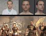 "PHOTO: James, a 24-year-old cancer patient, was recreated as a Roman soldier in the game ""Total War: Rome 2."""