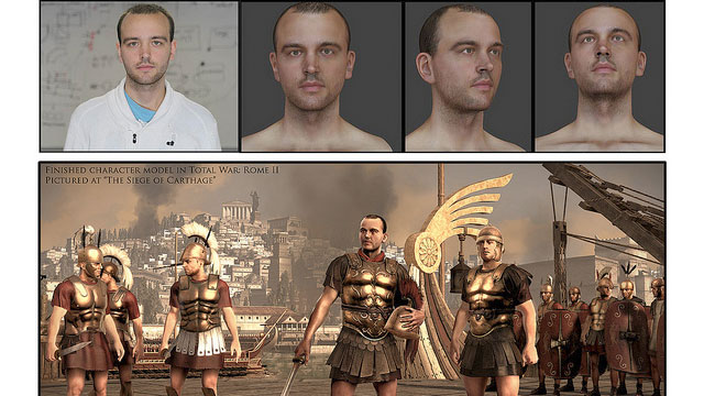 """PHOTO: James, a 24-year-old cancer patient, was recreated as a Roman soldier in the game """"Total War: Rome 2."""""""