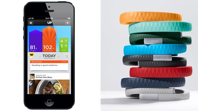 PHOTO: The Jawbone Up bracelet collects your activity and syncs it with your phone.