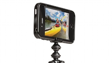 PHOTO: The GorillaMobile, seen here, is a bendable iPhone tripod.