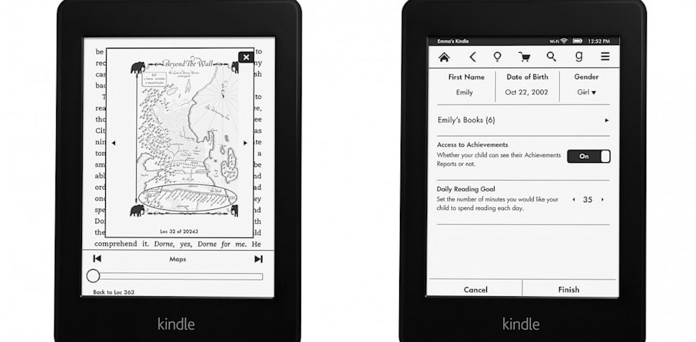 PHOTO: Amazons refreshed Kindle Paperwhite has new software features.