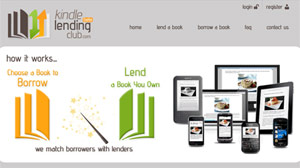 PHOTO This screengrab shows the Kindle Lending Club website