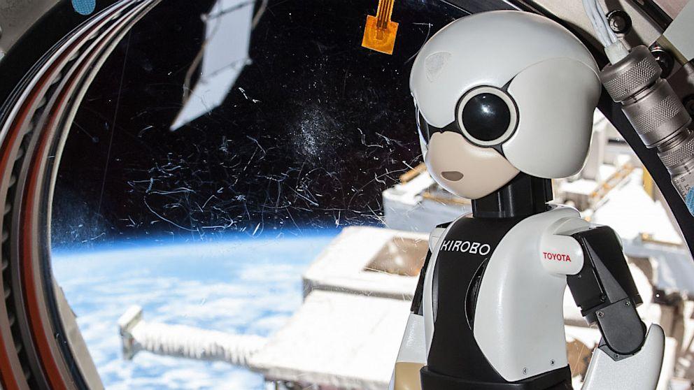 Kirobo Robotic Astronaut Says Hello Aboard the International Space