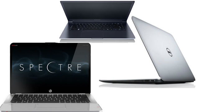 PHOTO: New ultrabooks from Samsung, Dell, and HP, try and take on the MacBook Air.