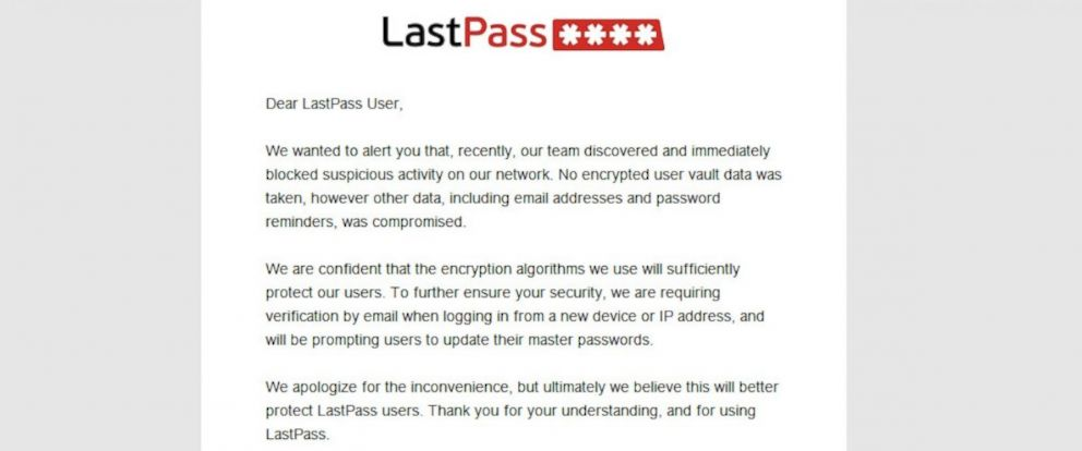 LastPass Password Manager Service Has Security Breach