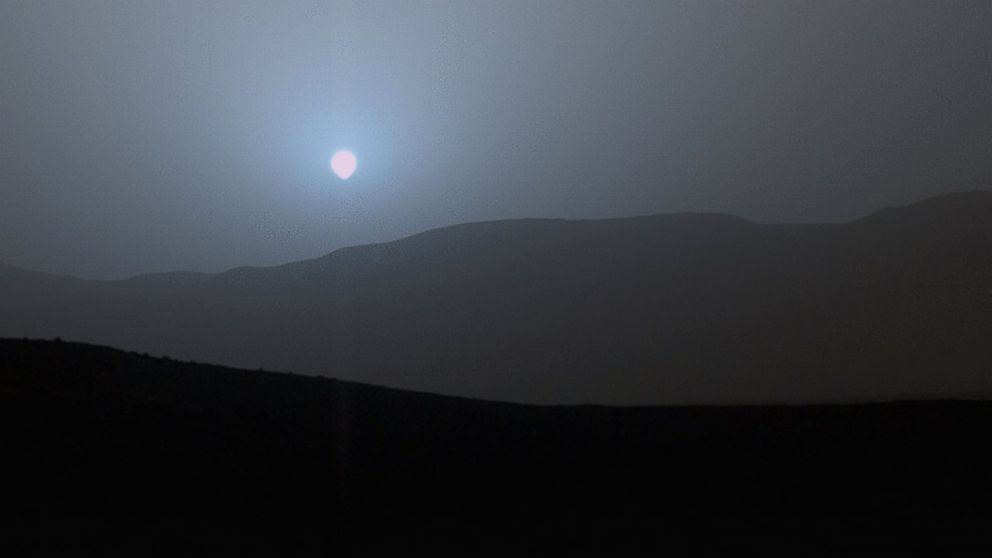 Mars Rover Shows Blue Sunset on the Red Planet - ABC News