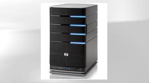 PHOTO The HP EX470 MediaSmart Home Server is shown.