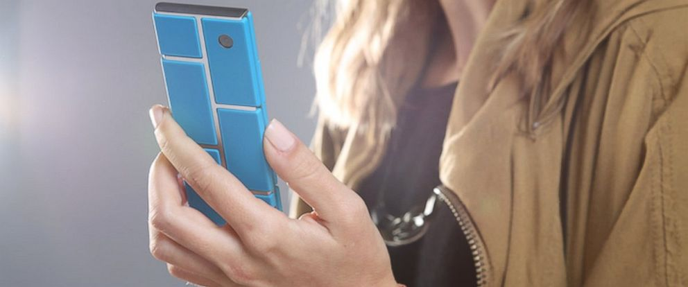 "PHOTO: Googles ""Project Ara"" takes a smartphone skeleton and gives users the power to design the look and function of the phone."